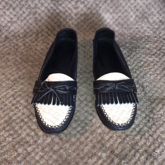 6888a076ea3 Cole Haan Resort Woven Leather Loafers Sz 8